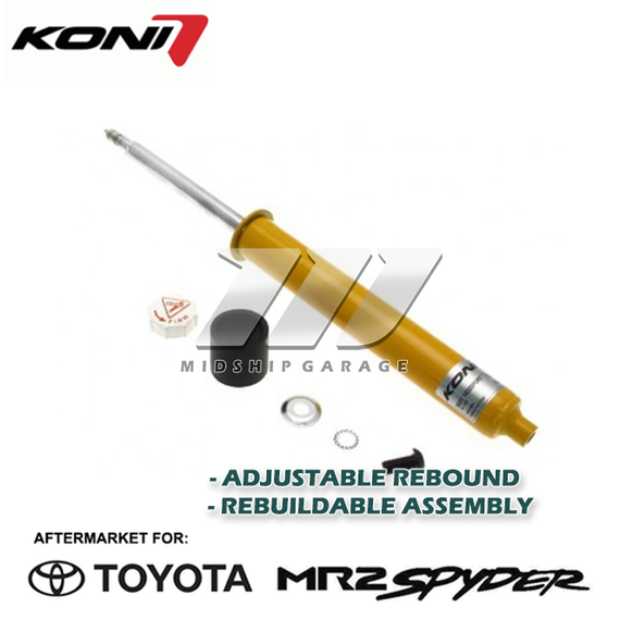 Koni - Toyota MR2 Spyder/MR-S ZZW30 (99-07) - Yellow Adjustable Performance Shock Absorber (Rear)