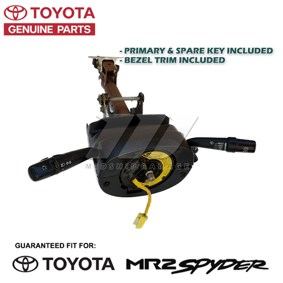 Genuine OEM - Toyota MR2 Spyder/MR-S ZZW30 (99-07) - Steering Shaft Assembly w/ Ignition Column & Keys - USED
