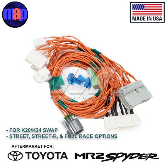 MAP - Toyota MR2 Spyder/MR-S ZZW30 (99-07) - Honda K20/K24 ... K Swap Wiring Harness on maxi-seal harness, safety harness, electrical harness, battery harness, suspension harness, pet harness, pony harness, nakamichi harness, engine harness, fall protection harness, obd0 to obd1 conversion harness, alpine stereo harness, cable harness, radio harness, oxygen sensor extension harness, amp bypass harness, dog harness,
