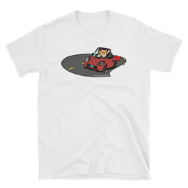 "Midship Garage ""Roadster Rage"" MR2 Spyder ZZW30 T-shirt - Red"