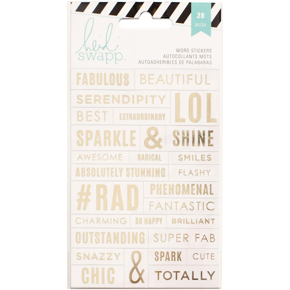 Heidi Swapp Word Gold Stickers