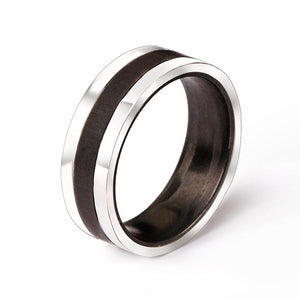 Titanium and Carbon Fibre Inlay Ring
