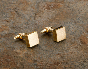 gold mens cufflinks