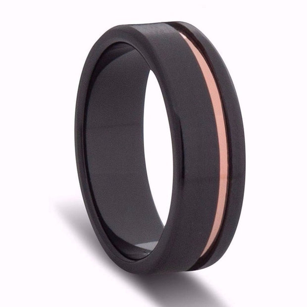 Black and Gold Wedding Ring