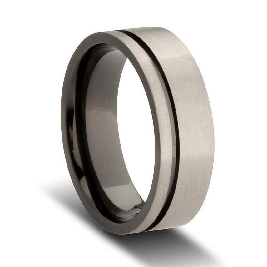 pictures of wedding rings grey and black zirconium men s wedding ring mens rings 6514