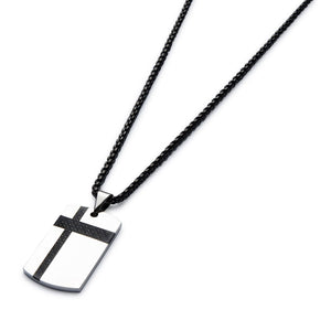 Black Carbon Fibre Men's Necklace