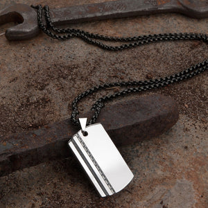 steel mens necklace
