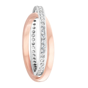 Diamond White and Rose Gold Russian Wedding Ring