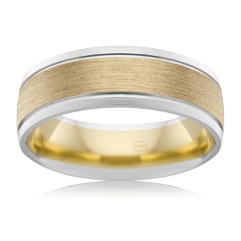 Yellow and White Gold Wedding Ring - 2T3499