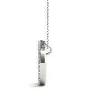 10ct D Initials Diamond Pendant