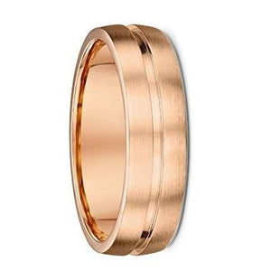 Grooved Rose Gold Wedding Ring (3692002)