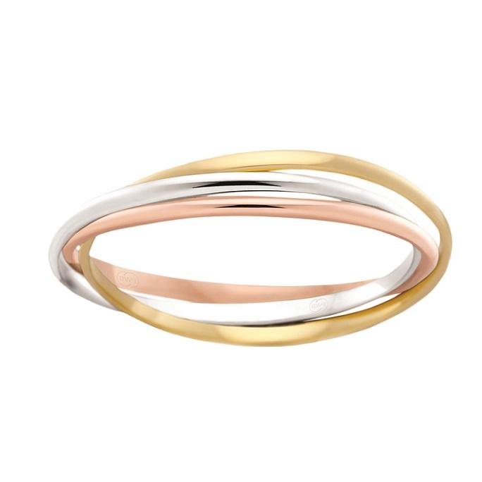 White, Rose, Yellow Gold Slim Russian Women's Wedding Ring