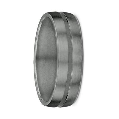 Single Groove Tantalum Wedding Ring