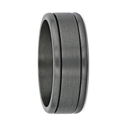 Double Grooved Tantalum Wedding Ring