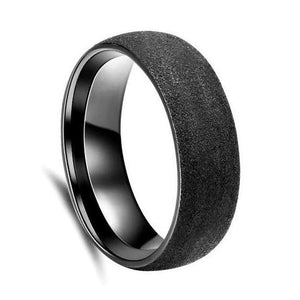 Custom Sandblasted Black Zirconium Wedding Ring