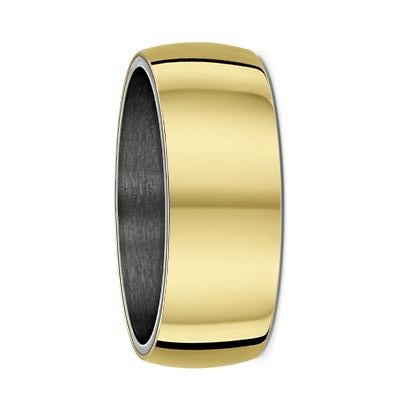 Yellow Gold and Tantalum Inner Sleeve Wedding Ring