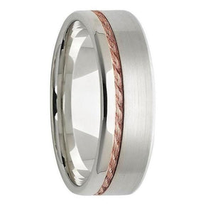 Rose Gold Mens Wedding Ring
