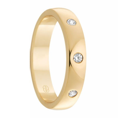 Women's Yellow Gold and Inset Diamond Ring