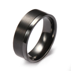mens black wedding rings