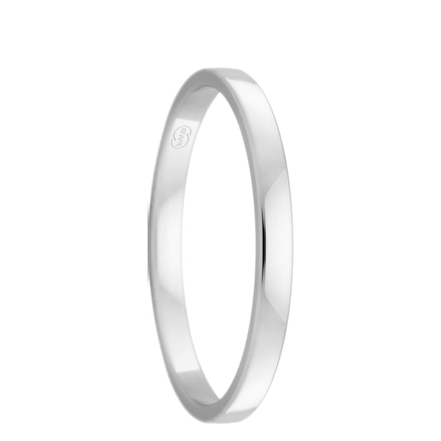 The Crescent Platinum Womens Wedding Ring