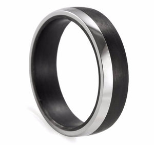 Titanium and Carbon Fibre Men's Wedding Ring