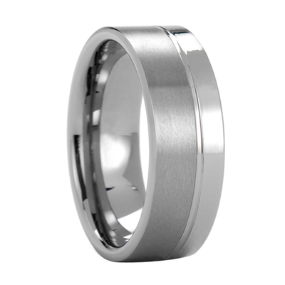 Two Tone Tungsten Rings