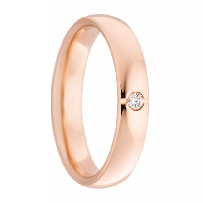 Women's Rose Gold and Diamond Ring