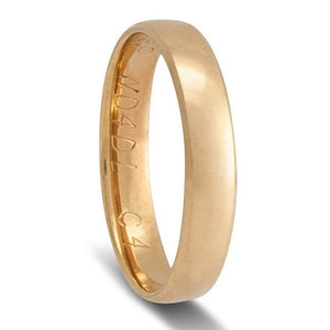 Gold Mens Rings Comfort fit