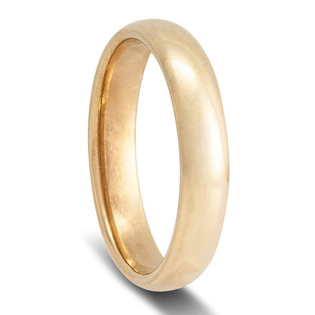 Gold Wedding Rings.Men S Yellow Gold Wedding Ring Half Round Comfort Curve