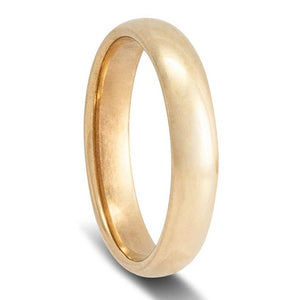 Mens Gold Wedding Rings Comfort Curve