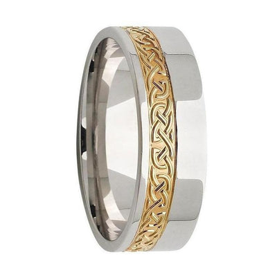 Gold Celtic Mens Ring