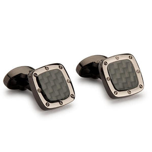 Cufflinks Carbon Fibre
