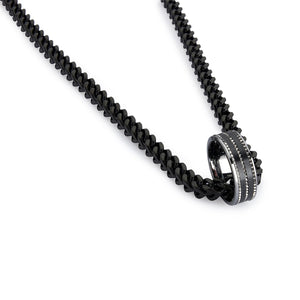 Armour Steel Necklace Chain - Black (6mm)