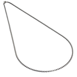 Armour Steel Necklace Chain - Silver (3 mm Cable)