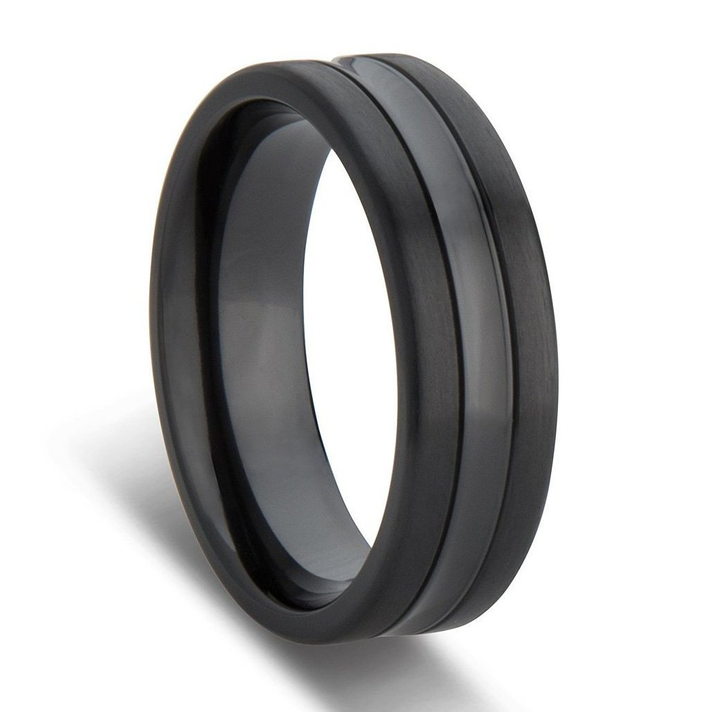 Black Rings For Men Black Mens Wedding Rings Black And Gold