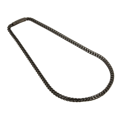 Gauntlet Steel Necklace Chain -  Matte Black (6mm)