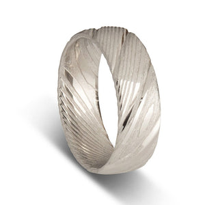 Mens Rings Damascus Steel