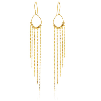 9ct Cable Drop Earrings