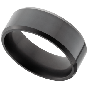 Elysium Bevelled Black Diamond Wedding Ring