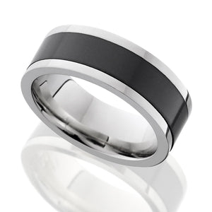 Elysium Black Diamond and 18 Carat White Gold Wedding Ring