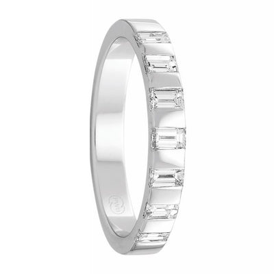 Women's White Gold and Tension Set Diamond Ring - FR3941