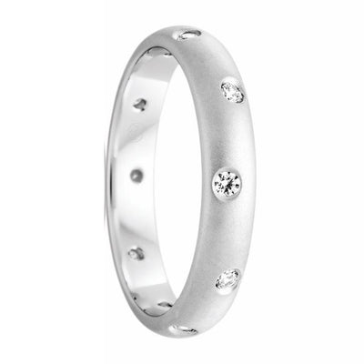 Women's White Gold and Inset Diamond Ring - HD2687