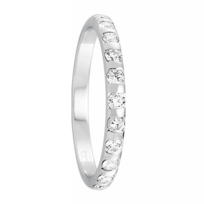 Women's White Gold and Tension Set Diamond Ring -HD3933