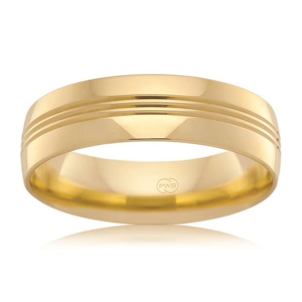 Gold Mens Wedding Rings