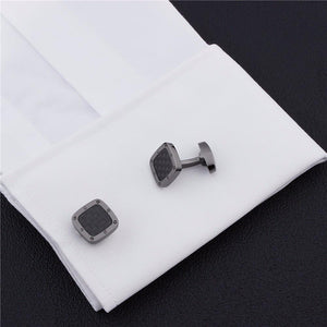 Square Carbon Fibre Cufflinks