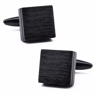 Brushed Slate Cufflinks - Black