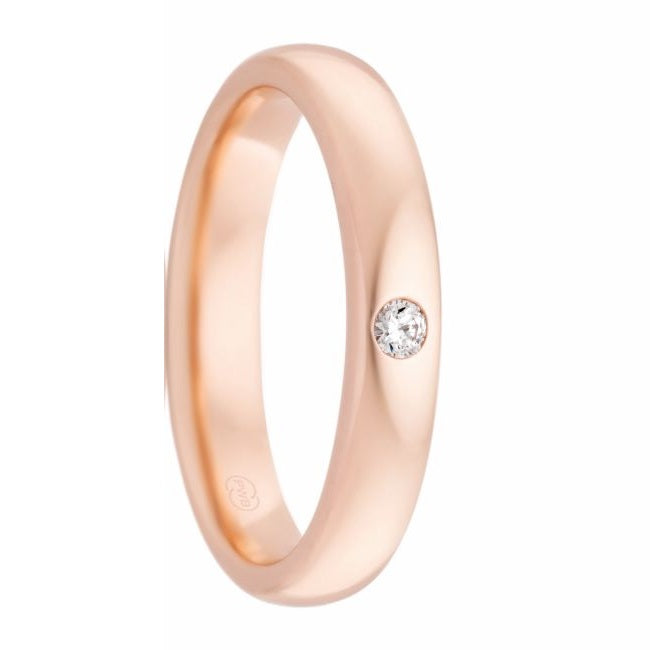 Women's Rose Gold and Diamond Beadset Ring