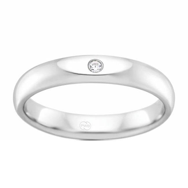 Women's White Gold and Diamond Inset Ring