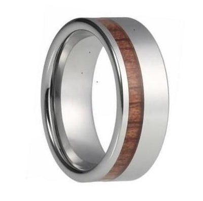 tungsten and wood ring