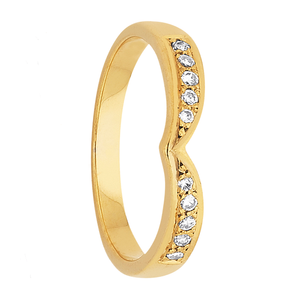 Gold Wedding Ring with Diamonds